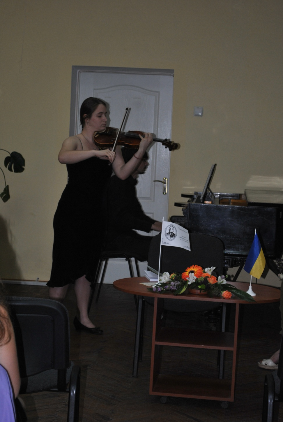 The Soloists of Kharkiv Philharmonic Society the violinist Inna Kirilenko and the pianist Stanislav Kalinin are opening the event